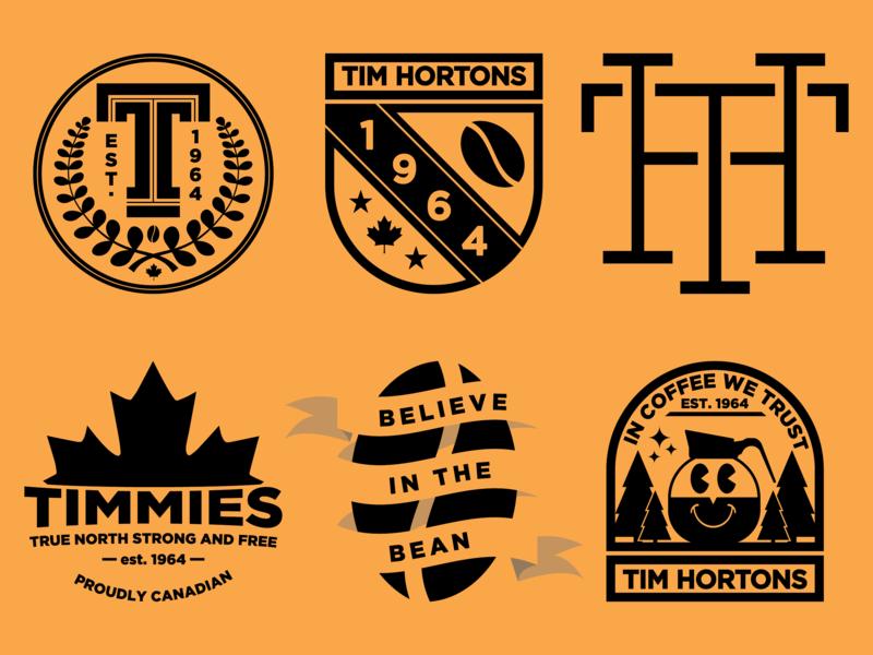 Tim Hortons Badge Logos coffee branding badge colour design adobe graphicdesign illustrator vector logo