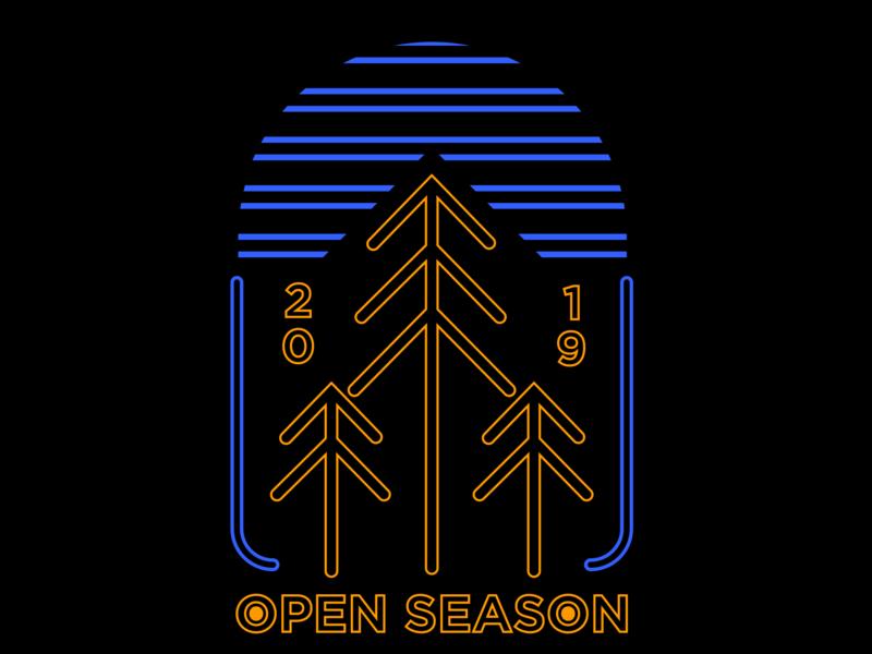 Neon Trees gold blue black badgedesign typography angles mountain branding colour design adobe graphicdesign illustrator vector logo