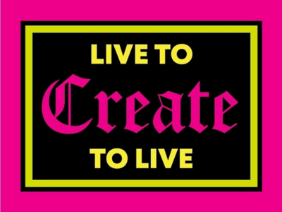 Live to Create Badge