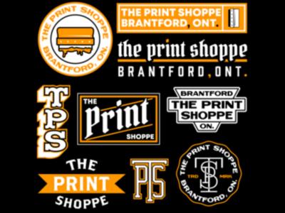 The Print Shoppe design shoppe print orange badge vector logo