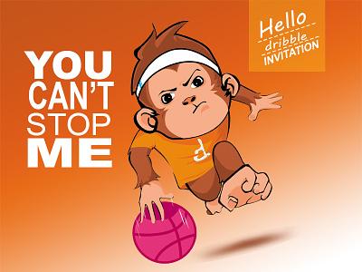 monkey dribble first shot logo bali indonesian designer debut orange monkey logo design graphic design