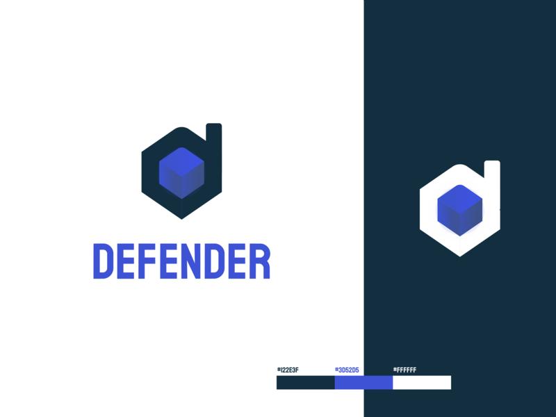 Defender Cybersecurity | Logo Concept network cybersecurity branding concept concept logo design logo branding design