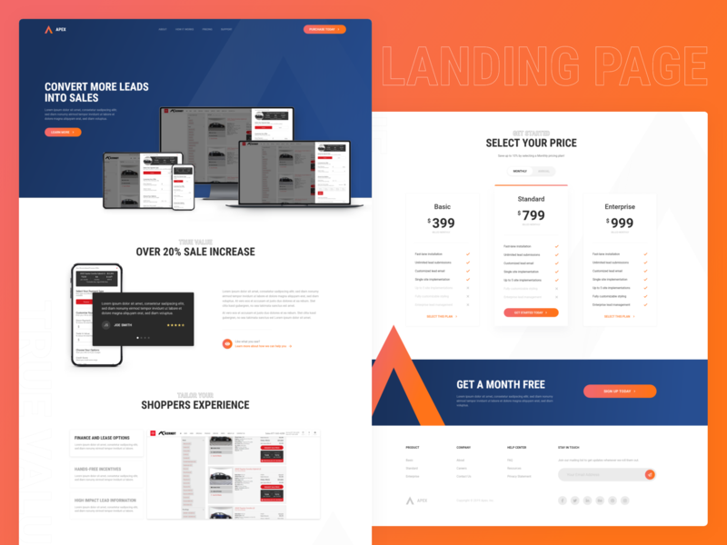 Product Pricing | Landing Page Concept by Michael Lewallen