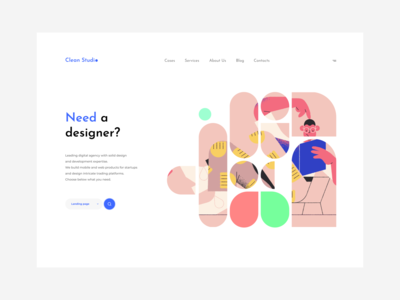 Clean Studio behance ui ux user grid web dribbble ux uidesign ui app ux design ui