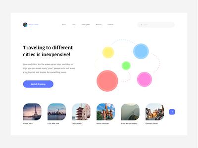 Travel company trend clean design vector ui ux user clean clean ui web dribbble ux uidesign ui app ux design ui