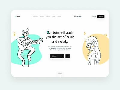 """Chime"" - music community music community web clean landing page store music bloobs design icon heropage colors illustraion dribbble grid ui ux user ux uidesign ui app ux design ui"