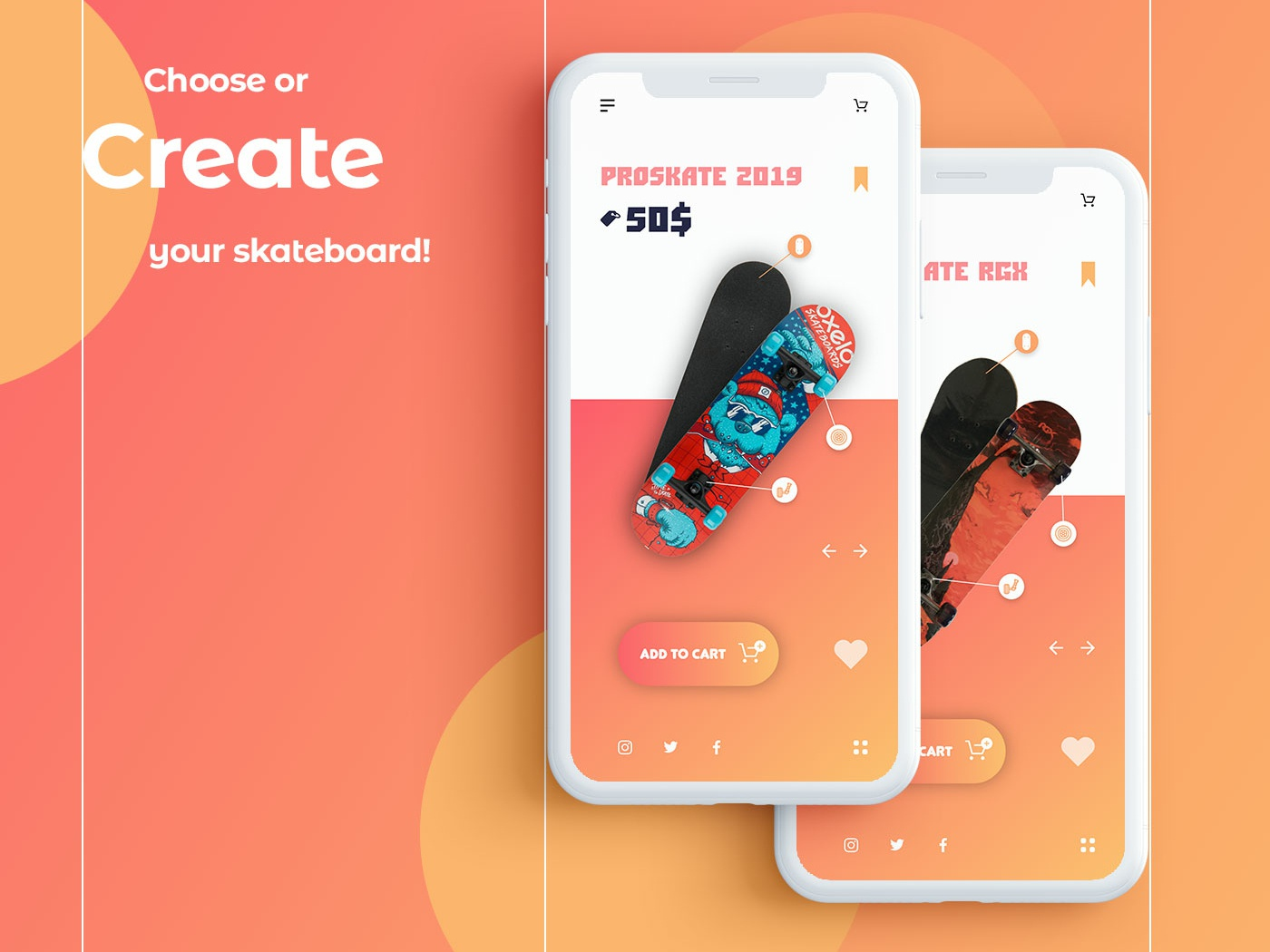 IOS application for buying and creating skates ui ux user product card grid vector design design app ux android card card art branding behance project android app ux design uidesign ui ui app dribbble behance web