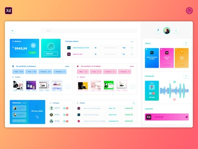 Web designer dashboard
