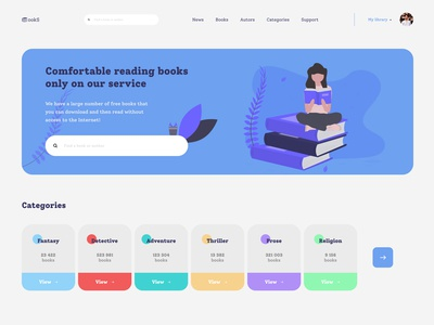"Website concept ""bookS"""