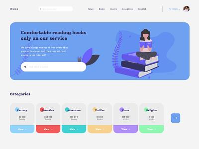 "Website concept ""bookS"" behance uidesign typography vector illustration ux ui app web ux design ui"