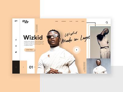 Wizkid Starboy Web Design musicartist africa madeinlagos illustration photoshop logodesign uidesigner ui brandidentity branding design afrobeats starboy wizkid