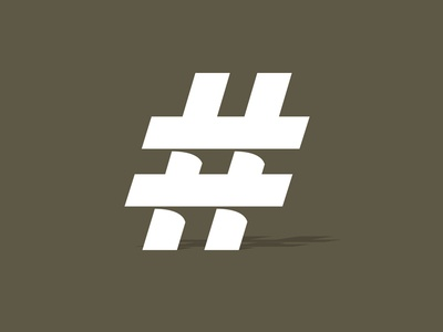 Hashtag concept mark whiskey and branding hashtag shadow brown knockout pound social media depth logo annual report
