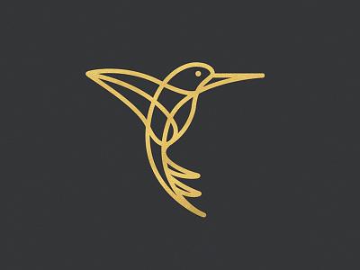 Hummingbird mark identity whiskey and branding modern wings flight lines gold branding logo hummingbird bird