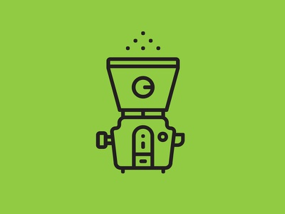 Juicer - cold pressed line art machine cold pressed whiskey and branding iconography icon illustration green organic raw juice