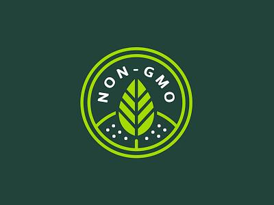 NON - GMO lineart whiskey and branding branding non-gmo organic raw leaf badge iconography icon green gmo
