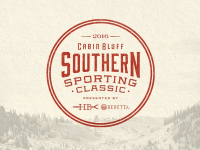 Cabin Bluff Southern Sporting Classic - OP1 mountain texture vintage cabin hunting fishing identity branding southern typography badge logo