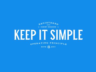 Operating Principle - Keep It Simple