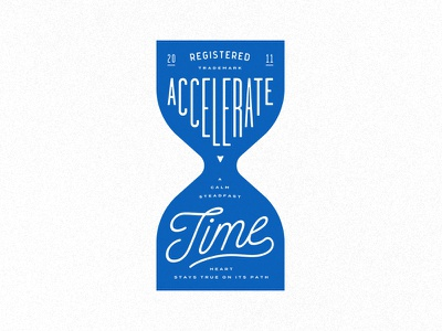 Accelerate Time typography seal pet logo lockup identity dog chewy cat branding blue badge