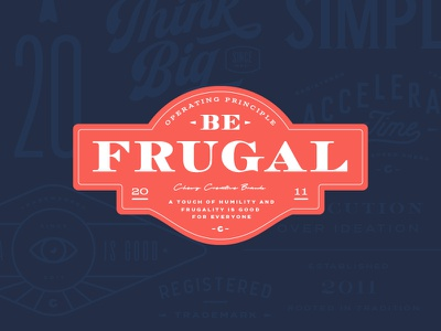 Be Frugal - Direction 2 typography seal pet logo lockup identity dog chewy cat branding blue badge