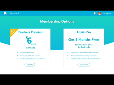 Membership Options sales