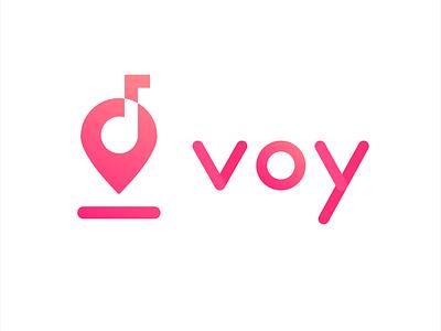 Voy Logo minimalism branding illustration voy logo design app audio tour