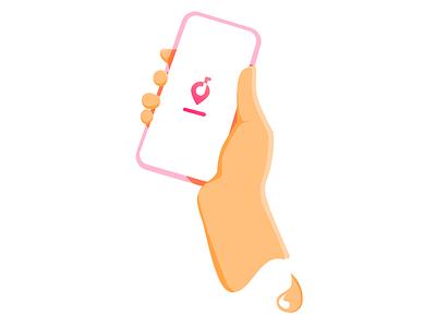 Light touch 2.0 phone app app phone illustration hand