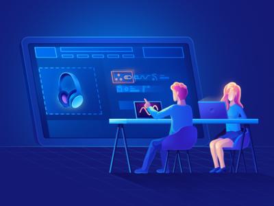 Launch Gator ( website illustration ) minimal web website vector icon design illustration branding flat