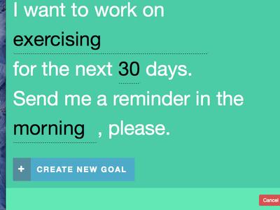 Rungs: Create New Goal