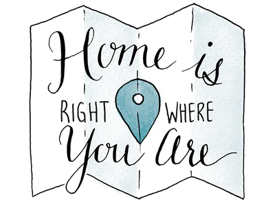 Home Is Right Where You Are By Nicole Dougherty Dribbble