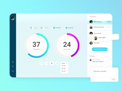 Time Box agile clean tool timer web app design ui ux