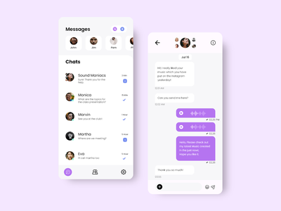 A  Messenger App UI Screen user experience user interface design chatting chat app messenger app mobile ui android app uiux appuidesign app design
