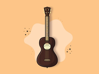 MAKALA UKeLELE music art dribbble shots illustrator digital art vector musical instrument ukelele music illustration flat graphic design creativepeddler