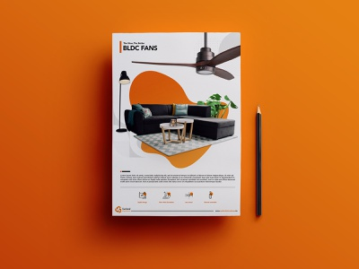 Fan Datasheet typogaphy web design branding photoshop technical print leaflet datasheet specs fan ceilingfan design minimal creativepeddler