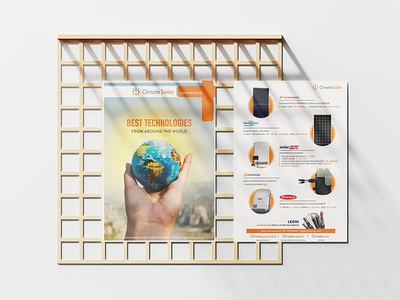 Solar Energy Leaflet solar system a5 designs pamphlet leaflet sun solar solar panel solar energy printing prints branding graphic design design minimal creativepeddler