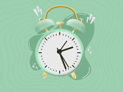 Alarm Clock snooze time clock alarm illustrator vector procreate digital art dribbble illustration minimal design graphic design creativepeddler