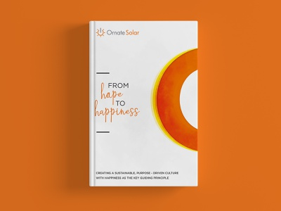 Hope to happiness Book Cover photoshop vector digital art dribbble creativepeddler graphic design minimal orange happiness hardcover print design book cover design cover book print