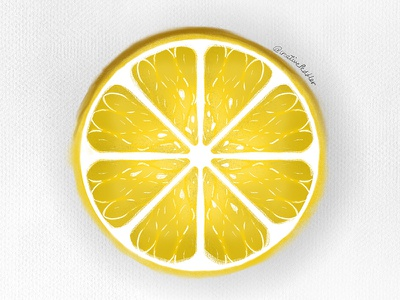 Lemon juicy ipad design illustration digital art dribbble creativepeddler minimal lemonade yellow vegetable lemons sour procreate vector lime lemon