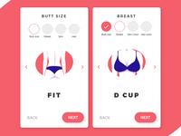 Lingerie app UI