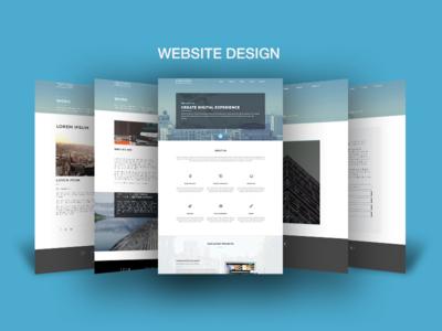 Website Layout Design Showcase Mock Up Psd