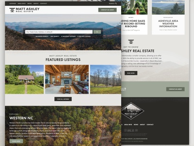 Matt Ashley Real Estate Website carolina texture home house search mls transit mountains montreat black mountain asheville wnc realtor realty real estate website