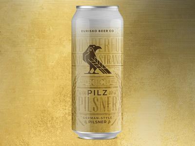 Pilz Can hops barley texture asheville bird gold metallic pilsner classic beer can beer