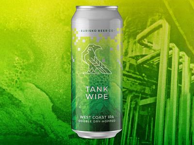 Tank Wipe Can bird texture west coast ipa west coast ipa beer can asheville beer