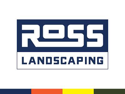 Ross Landscaping Logo lawncare yardwork landscaping classic oldschool simple logo