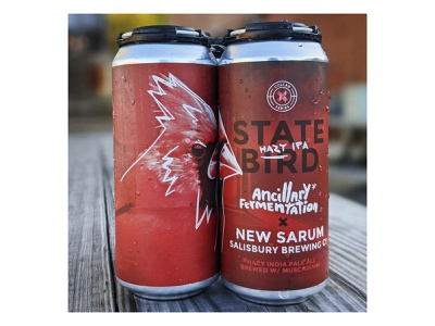 State Bird Hazy IPA can label beer label beer can muscadine grapes collab ipa hazy state cardinal bird