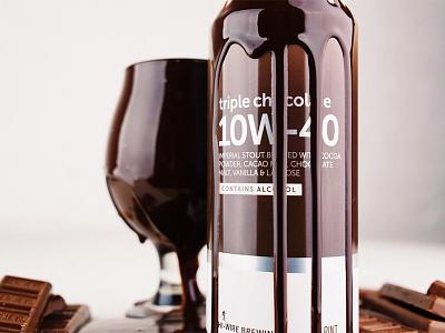 Hi-Wire Triple Chocolate 10W-40 beer can dark motor oil 10w-40 beer chocolate