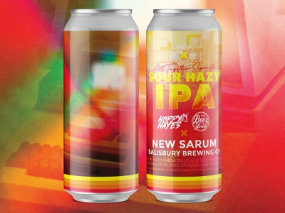 All Together Separate Sour Hazy IPA can label stripes computer colorful retro label beer collaboration collab coronavirus corona covid-19 covid 2020 together