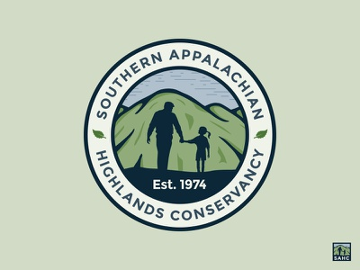 Southern Appalachian Highlands Conservancy Logo conservancy highlands southern appalachian circle leaf mountains logo identity branding asheville