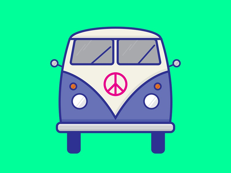 Hippie Wagon By Jacob Voigt Dribbble Dribbble