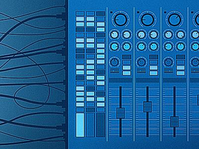 Soundboard buttons knobs wires beer music soundboard asheville