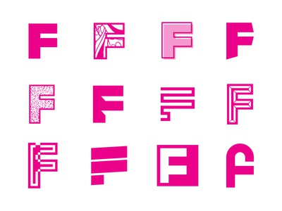 All Fs wip logo exploration type typography letter f